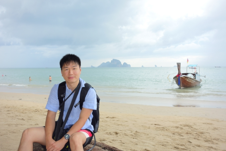 03 Ao Nang beach self portrait