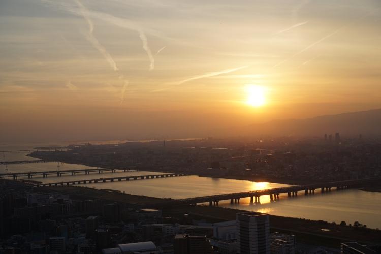 14 Umeda Sky Building sunset